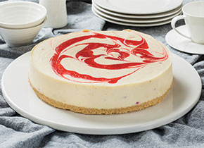 White Choc & Raspberry Cheesecake