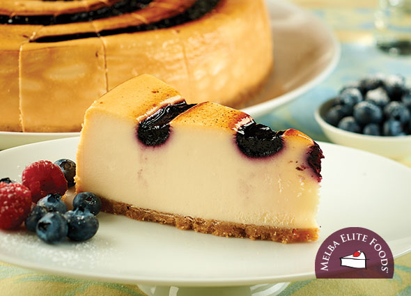 Blueberry Brulee Cheesecake