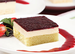 Boysenberry Sponge Cheesecake