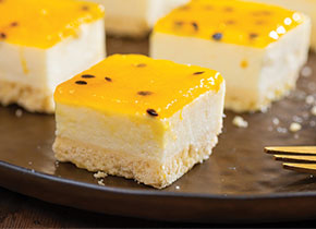 Passionfruit Tray Cheesecake